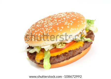 Burger from the fast food restaurant - stock photo
