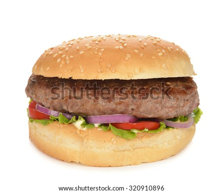 Burger isolated on white background