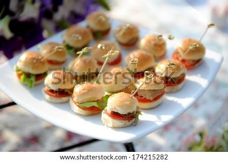 burgers - stock photo