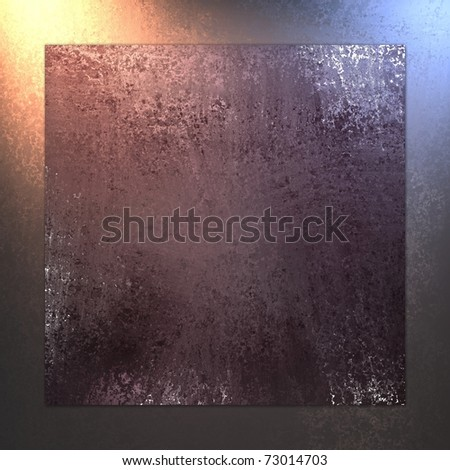 burgundy red background with matching frame border around the edges, with grunge texture, soft gold lighting, and copy space - stock photo