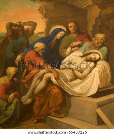 Burial of Christ from Vienna chruch Kirche am Hof - stock photo