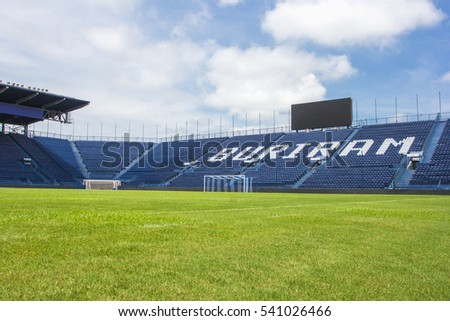BURIRAM, THAILAND - SEP15, 2016 : i-mobile Stadium on May 11, 2016.The i-mobile Stadium is the largest football stadium in Thailand.