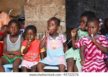BURKINA FASO - AUGUST 22: Orphanage in Ouagadougou, Hundreds of children abandoned on the streets are victims of poverty or illness, August 22, 2009 in Ouagadougou, Burkina Faso - stock photo