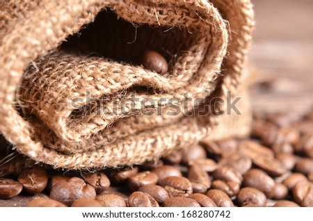 burlap and coffee