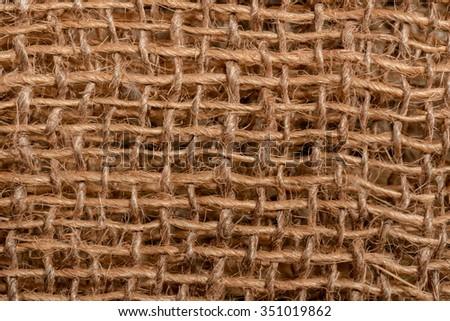 Burlap background texture - stock photo