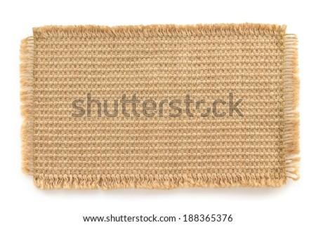 burlap hessian sacking isolated on white background - stock photo