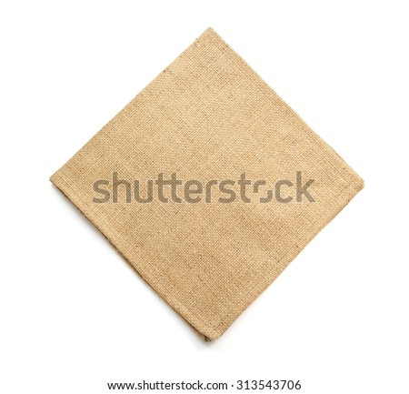 burlap hessian sacking isolated on white background - stock photo