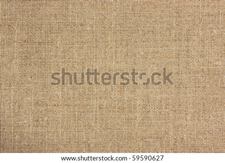 Burlap material - stock photo