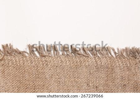 Burlap sack - stock photo