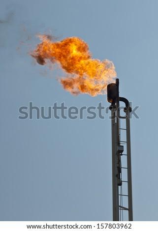 burn off tower - stock photo