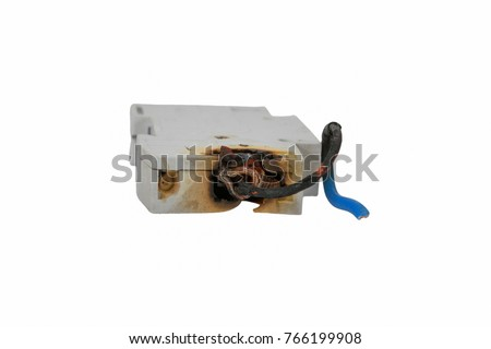 burned electrical circuit breaker fuse box stock photo download now rh shutterstock com White Breaker Box Bit Breaker Box