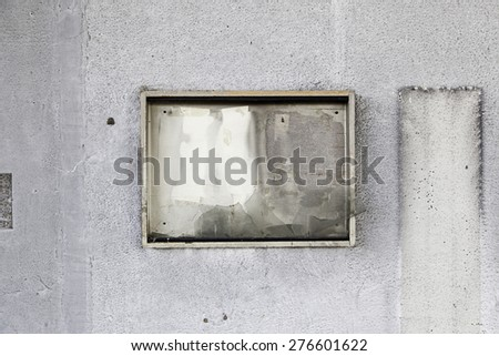 Burned wall, detail of a burned and abandoned building, ruin - stock photo