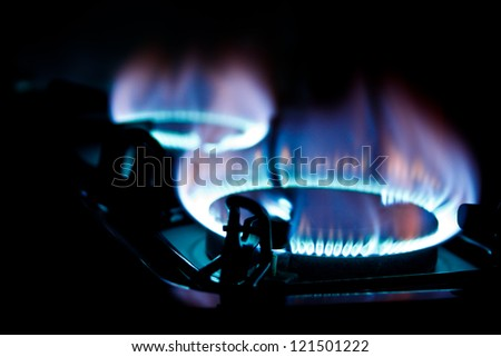 burner fried on black - stock photo
