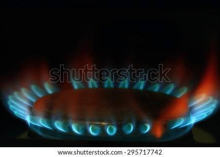burner gas cooker - stock photo