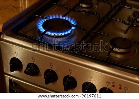 Burner gas flame - stock photo