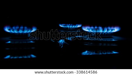 Burner gas stove - stock photo