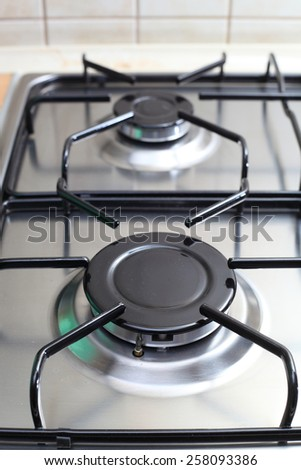 burner gas stove close-up