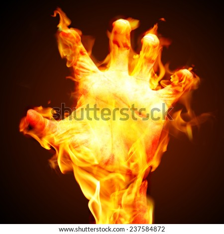 burning arm - stock photo