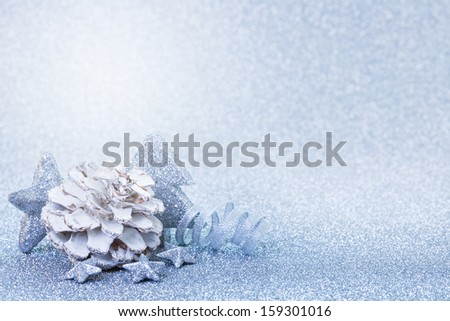 burning candle for christmas with copy space  - stock photo