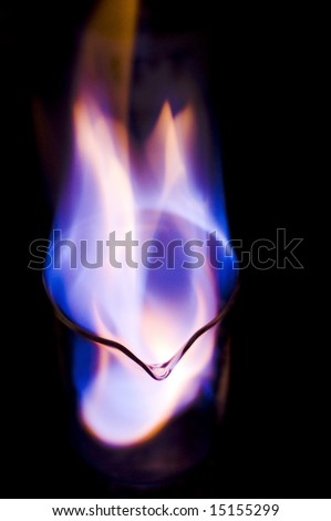burning Ethanol fuel - stock photo