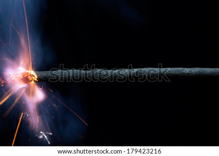 Burning Fuse - stock photo