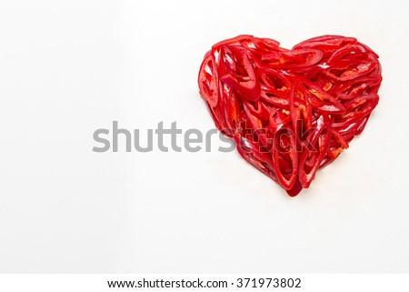 Burning heart - stock photo