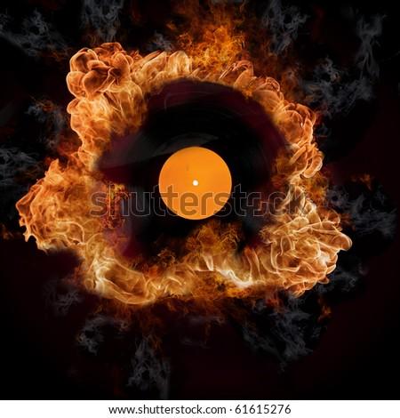 Burning hits - stock photo