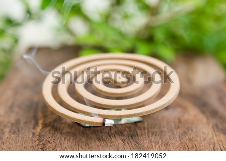 Burning mosquito coil for Insect repellent