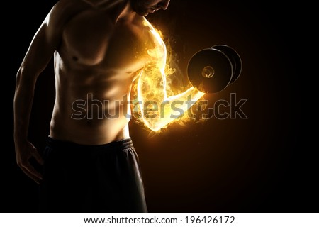Burning Muscles - stock photo