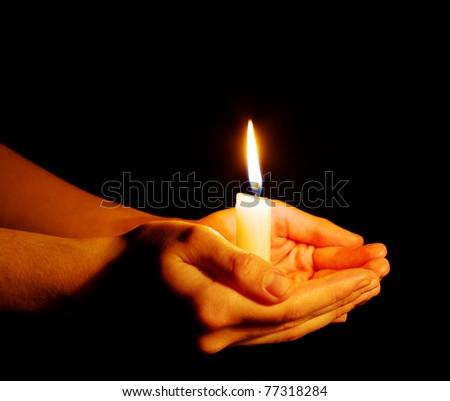 Burning of the candle - stock photo