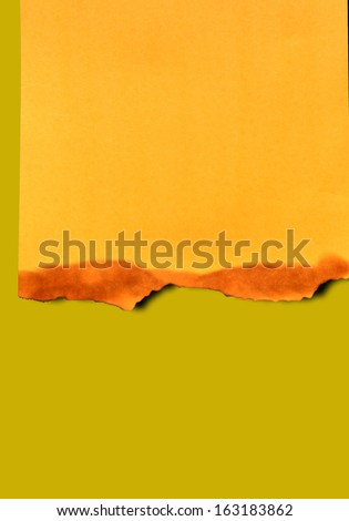 Burning Paper with burned edges for a background