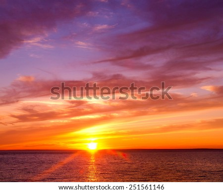 Burning Skies Night is Coming  - stock photo
