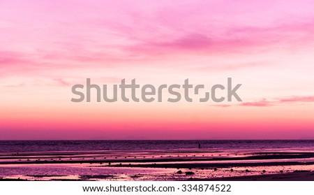 Burning Skies Sunset Glow  - stock photo