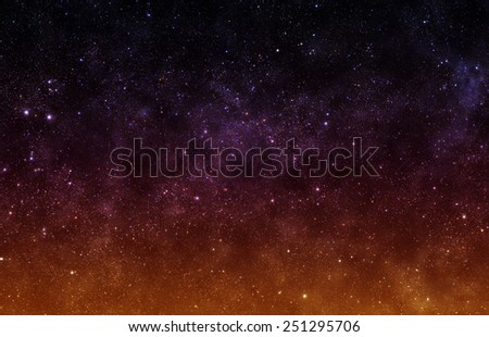 Burning Sky - Elements of this Image Furnished by NASA - stock photo