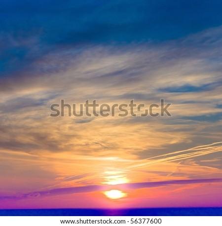 Burning Sun - stock photo