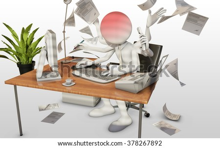 burnout with white background - stock photo