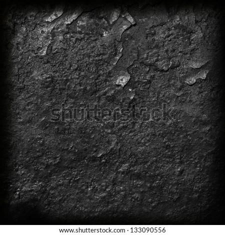 burnt material textured dark background - stock photo