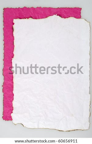 Burnt paper,ready for your message. - stock photo