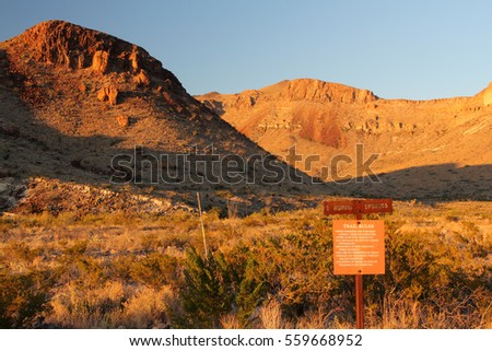 Burro Springs Trail in Big Bend National Park, American Southwest