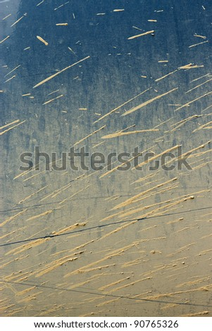 Bursts of dirt on the body of an SUV - stock photo