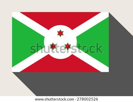 Burundi flag in flat web design style. - stock photo