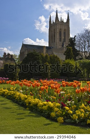 Bury St Edmunds Cathedral, Suffolk, England - stock photo