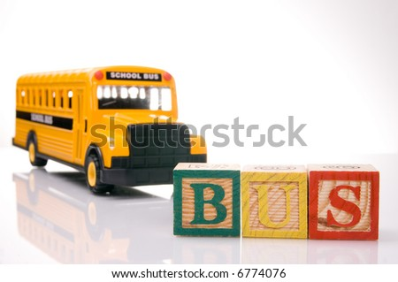 Bus letter - stock photo