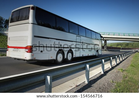 Bus on the road - stock photo