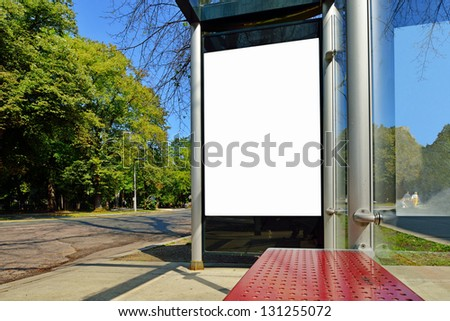 Bus Shelter Ad Panel - stock photo