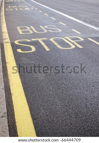 Bus stop sign, London, UK - stock photo