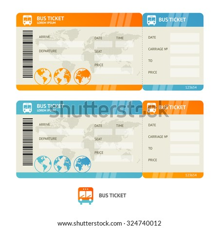 Bus Ticket Images RoyaltyFree Images Vectors – Bus Pass Template