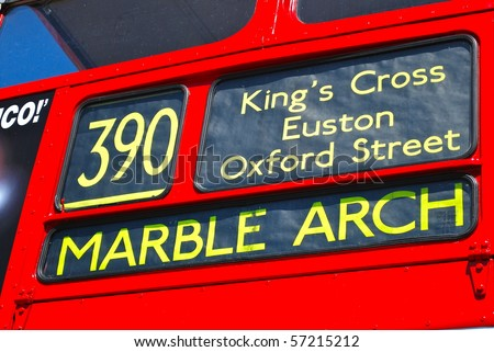 Bus to Marble Arch - stock photo
