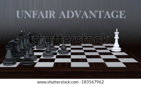 Businees style composition, showing obviously unequal forces of opponents - stock photo