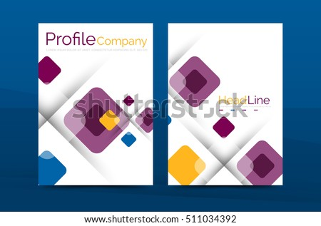 Business a4 annual report business brochure template, print layout
